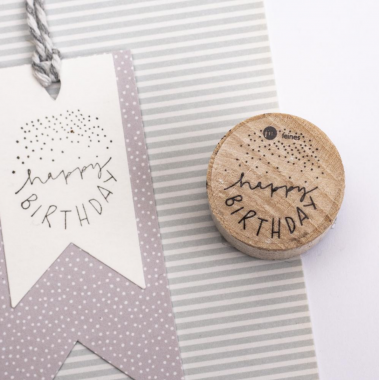 Stempel 'Happy Birthday'