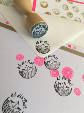 Stempel 'Ab die Post'