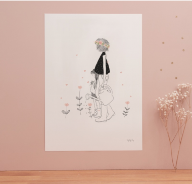 A4 Poster 'Lovely Mom' von My lovely Thing