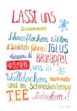 A4 Poster \'Winter\' von Frau Ottilie