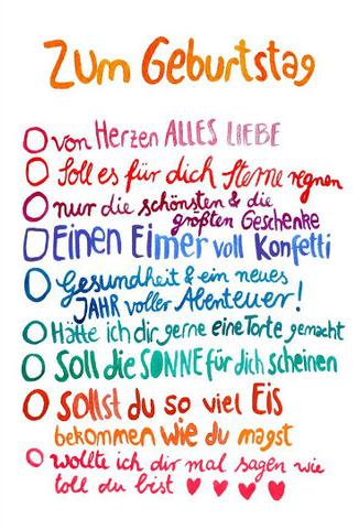 Papermintch Postkarte Zum Geburtstag Ankreuzen Von Frau Ottlilie